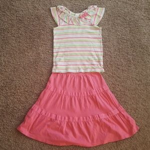 Gymboree Girls Spring Stripes Outfit